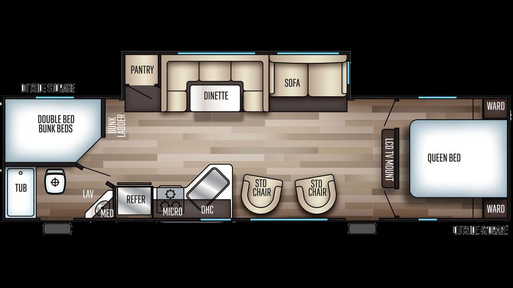 2019 Cherokee 294DBH Floor Plan Img
