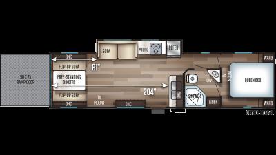 2019 Cherokee 294RR Floor Plan Img