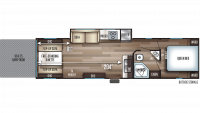2019 Cherokee 294RR Floor Plan