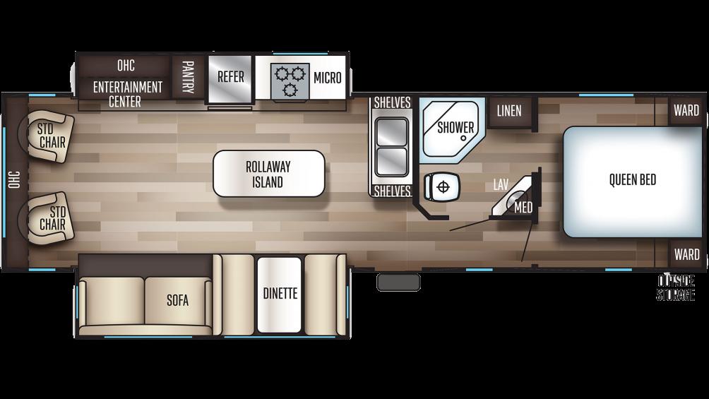 2019 Cherokee 304R Floor Plan Img