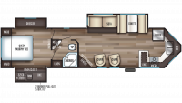 2019 Cherokee 304VFK Floor Plan
