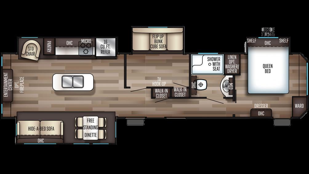 2019 Cherokee 39BR Floor Plan Img