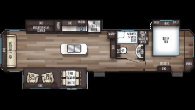 2019 Cherokee 39RL Floor Plan Img