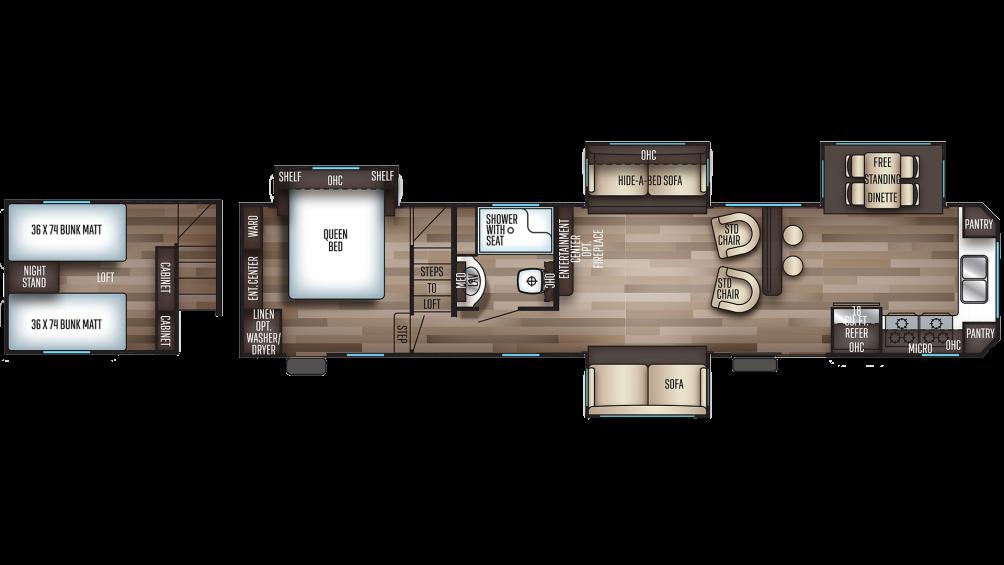 2019 Cherokee 39SR Floor Plan Img