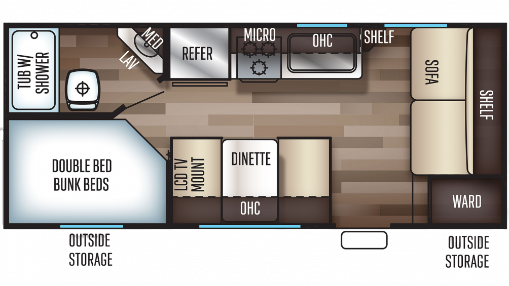 2019 Grey Wolf 17BHSE SPECIAL EDITION Floor Plan Img