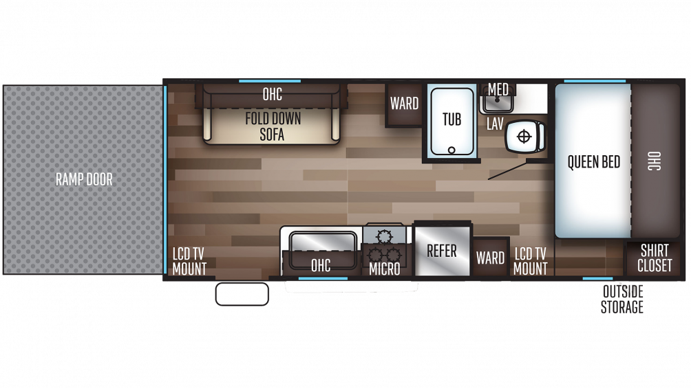 2019 Grey Wolf 19RR Floor Plan Img