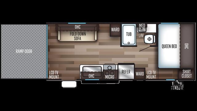 2019 Grey Wolf 19RR Floor Plan
