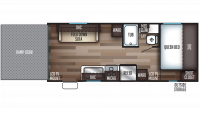 2019 Grey Wolf 19RR Floor Plan