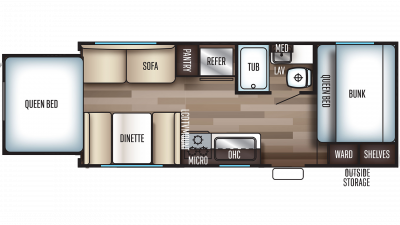 2019 Grey Wolf 19SM Floor Plan Img