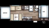 2019 Grey Wolf 19SM Floor Plan