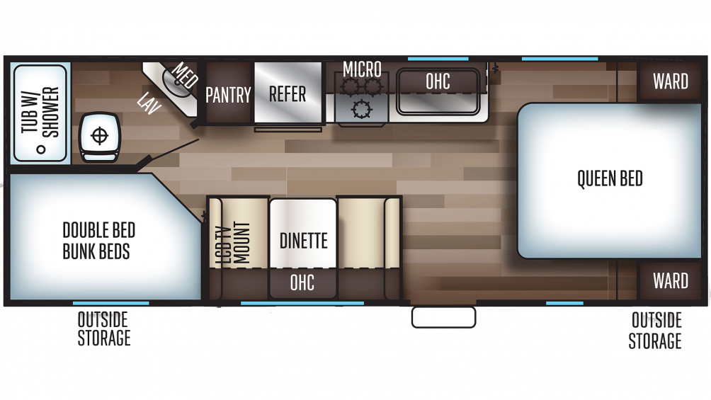 2019 Grey Wolf 22MKSE SPECIAL EDITION Floor Plan Img