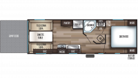 2019 Grey Wolf 22RR Floor Plan
