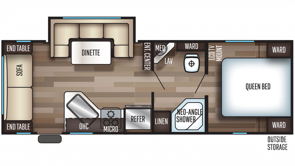 2019 Grey Wolf 23MK Floor Plan Img