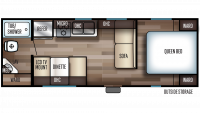 2019 Grey Wolf 24JS Floor Plan