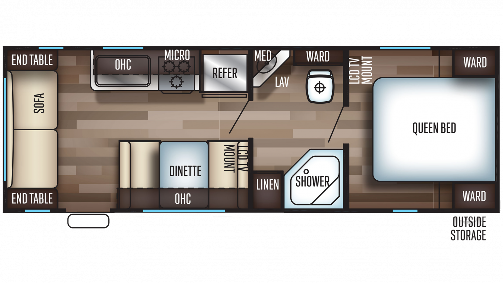 2019 Grey Wolf 25RL Floor Plan Img