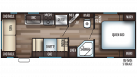 2019 Grey Wolf 25RL Floor Plan