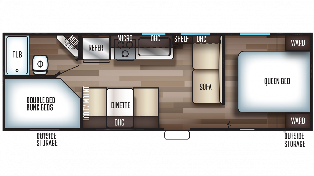 2019 Grey Wolf 26DJSE SPECIAL EDITION Floor Plan Img