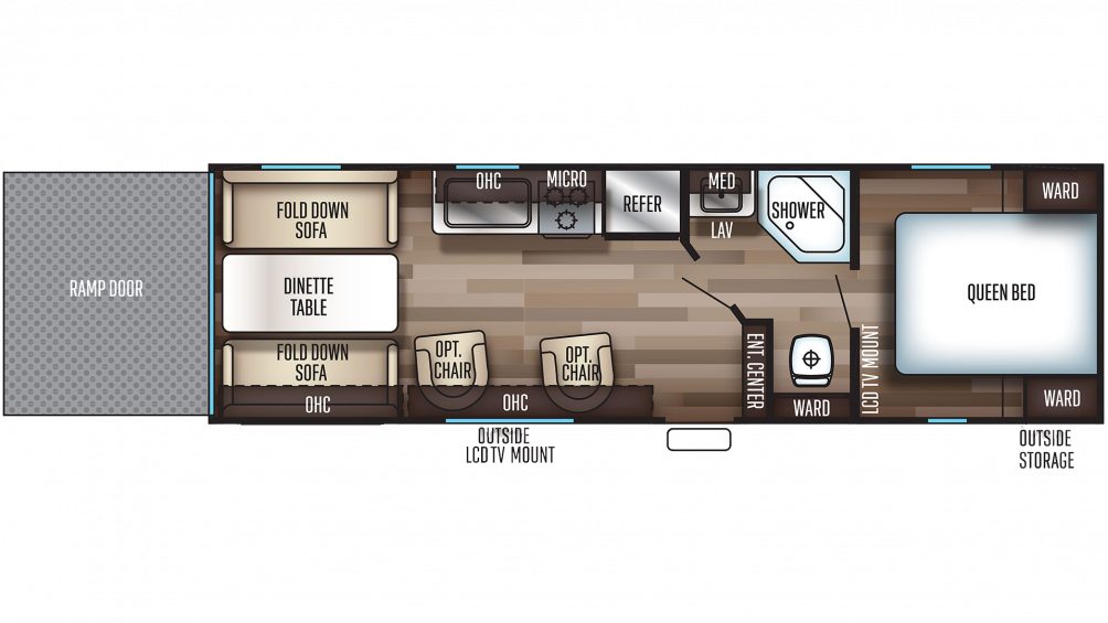 2019 Grey Wolf 26RR Floor Plan Img