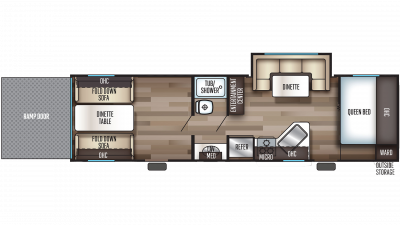 2019 Grey Wolf 27RR Floor Plan Img