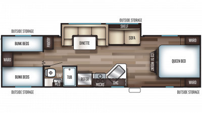 2019 Grey Wolf 29BH Floor Plan Img