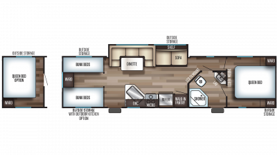 2019 Grey Wolf 29TE Floor Plan Img