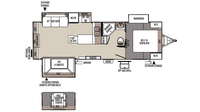 2016 Rockwood Ultra Lite 2703WS Floor Plan