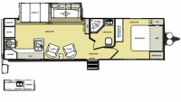 2014 Salem Hemisphere 282RKS Floor Plan