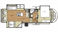 2014 Salem Hemisphere 286RLT Floor Plan