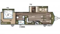 2019 Wildwood DLX 353FLFB Floor Plan