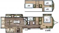 2019 Wildwood Grand Lodge 42DLTS Floor Plan