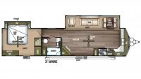 2019 Wildwood Lodge 394FKDS Floor Plan
