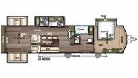 2019 Wildwood Lodge 395RET Floor Plan