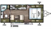 2019 Wildwood X-Lite 171RBXL Floor Plan