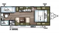 2019 Wildwood X-Lite 201BHXL Floor Plan