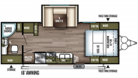 2019 Wildwood X-Lite 233RBXL Floor Plan