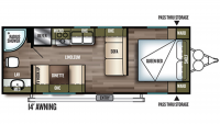 2019 Wildwood X-Lite 241QBXL Floor Plan