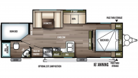 2019 Wildwood X-Lite 263BHXL Floor Plan