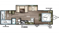 2019 Wildwood X-Lite 273QBXL Floor Plan
