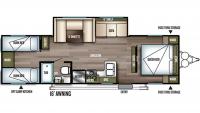 2019 Wildwood X-Lite 282QBXL Floor Plan