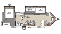 2016 Windjammer 3008W Floor Plan