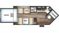 2019 Wolf Pup 15SW Floor Plan