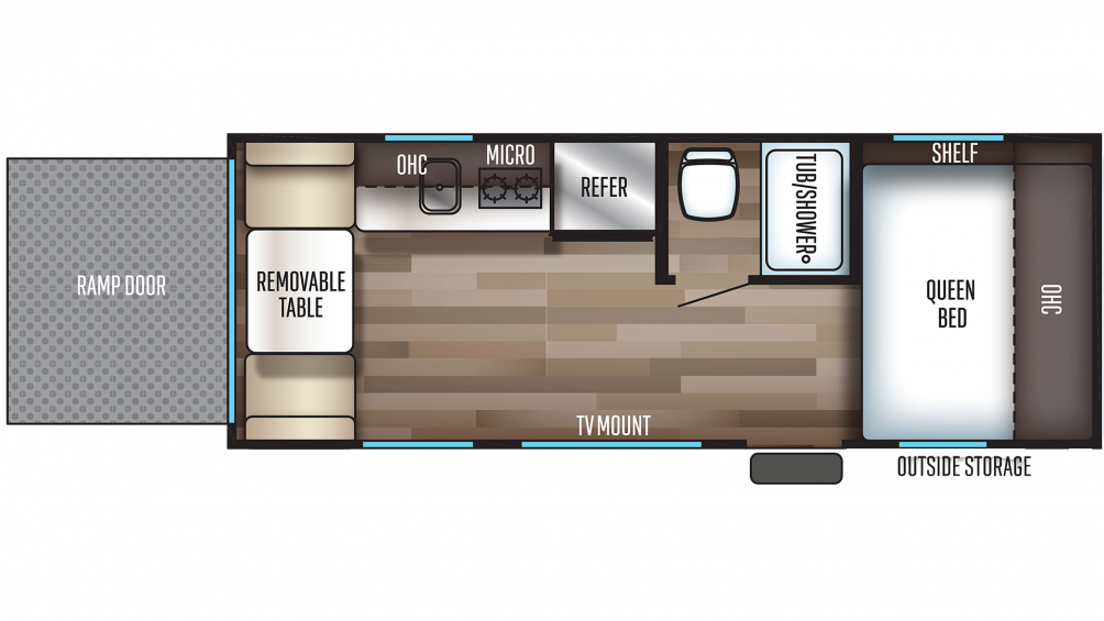 2019 Wolf Pup 18RJB Floor Plan Img