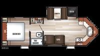 2019 Cherokee 234VFK Floor Plan