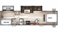 2019 Cherokee 294BH Floor Plan