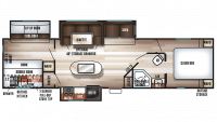 2019 Cherokee 304BH Floor Plan