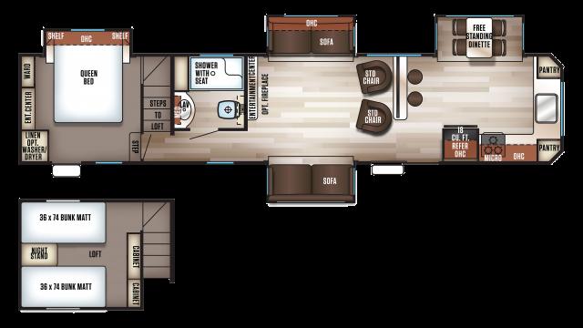2018 Cherokee 39SR Floor Plan