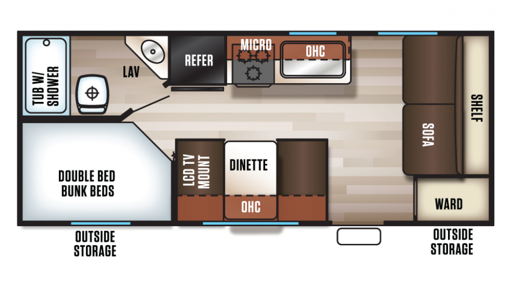 2017 Grey Wolf 17BHSE SPECIAL EDITION Floor Plan Img