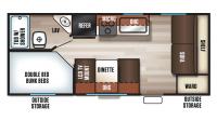 2017 Grey Wolf 17BHSE SPECIAL EDITION Floor Plan