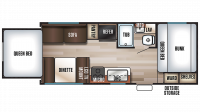 2018 Grey Wolf 19SM Floor Plan