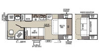 2016 Rockwood Mini Lite 2304 Floor Plan